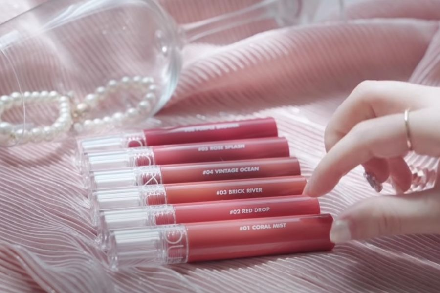 Thiết kế son Romand Glasting Water Tint
