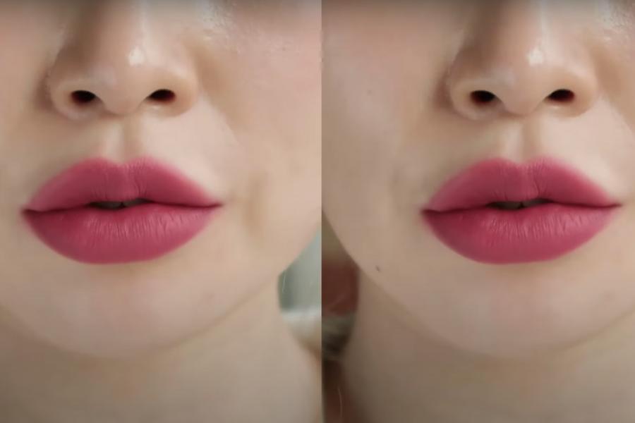 review romand zero velvet tint màu 25 Nerd Pink hồng tím